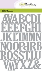 CraftEmotions Die - uppercase alphabet