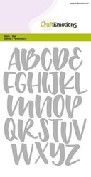 CraftEmotions Die - alphabet handlettering capital letters