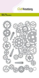 CraftEmotions Die - gears edges and corner