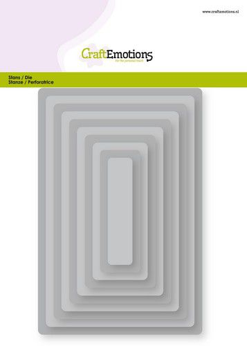 CraftEmotions Big Nesting Die - rectangles, rounded corners