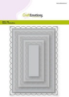 CraftEmotions Big Nesting Die - rectangles scalop XL open