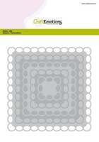 CraftEmotions Big Nesting Die - squares scalop XL oval