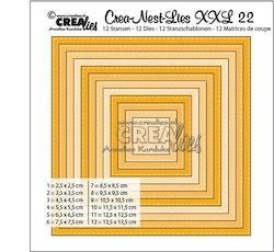 Crealies Crea-nest-dies XXL no. 22 die square basic