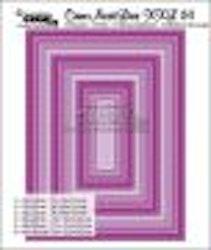 Crealies Crea-nest-dies XXL no. 24 die rectangle stitch line