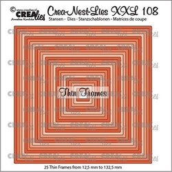 Crealies Crea-nest-dies XXL Thin Frames squares (25x)