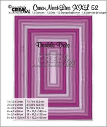 Crealies Crea-nest-dies XXL no. 52 double dots rectangles