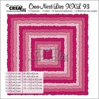Crealies Crea-Nest-Lies XXL no 93 squares with rough edges