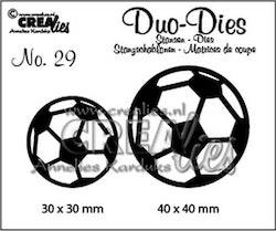 Crealies Duo Dies no. 29 soccerballs