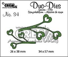 Crealies Duo Dies no. 34 leaves 4