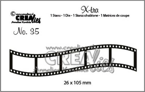 Crealies X-tra no. 35 Curved filmstrip Small