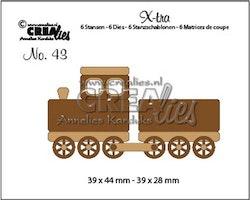 Crealies X-tra no. 43 Train + wagon (Small)