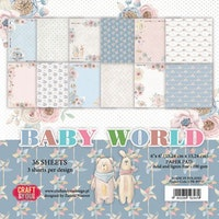 """Craft&You Baby World small paper pad 6x6"""" 36 sht"""