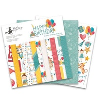 "Piatek13 - Paper pad Happy Birthday 12"""
