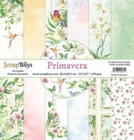 ScrapBoys Primavera paperset 12 vl+cut out elements
