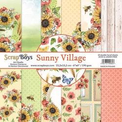 ScrapBoys Sunny Village paperpad 24 vl+cut out elements-DZ