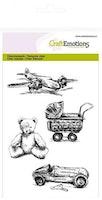 CraftEmotions clearstamps A6 - vintage kinderspeelgoed ...
