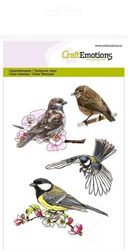 CraftEmotions clearstamps A6 - vogels Spring Time