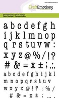 CraftEmotions clearstamps A6 - lowercase alphabet ...