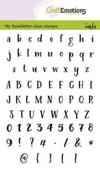 CraftEmotions clearstamps A6 - handletter - alphabet ...
