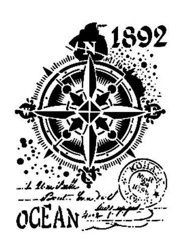 Cadence Mask Stencil AS - ocean compass