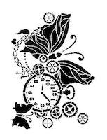 Cadence Mask Stencil AS - pocket watch butterfly