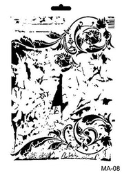 Cadence Mask Stencil MA - background ornament