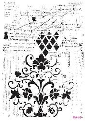 Cadence Mask Stencil MA - background ornament vintage