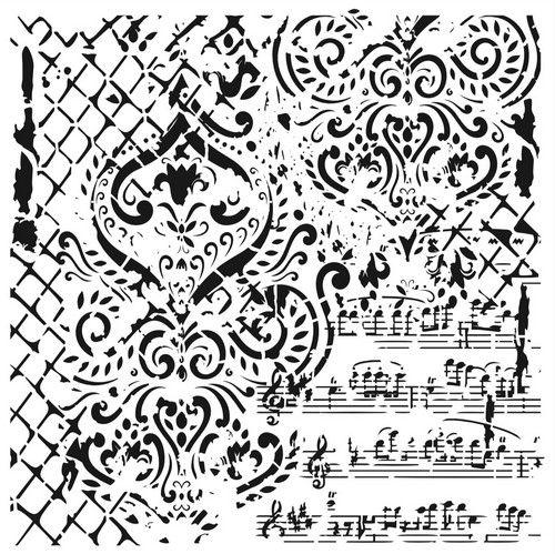 Cadence Mask Stencil GCSM - Grunch ornament 14