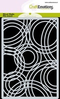 CraftEmotions Mask stencil background Triple circles