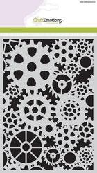 CraftEmotions Mask stencil gears