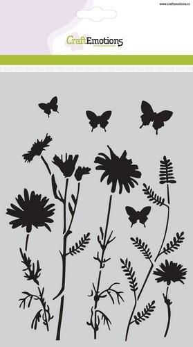 CraftEmotions Mask stencil field flowers