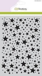 CraftEmotions Mask stencil stars