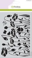 CraftEmotions Mask stencil - Poppie fields