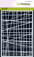 CraftEmotions Mask stencil - lines grid irregular