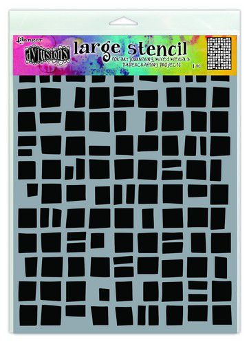 Ranger Dylusions Stencils Betsy's Block - Large DYS71488