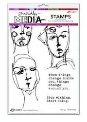 Dina Wakley Media Stamps Change    6'x9'