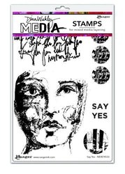 Dina Wakley Media Stamps Say Yes    6'x9'