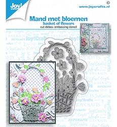 Korg med blommor 50x68 mm