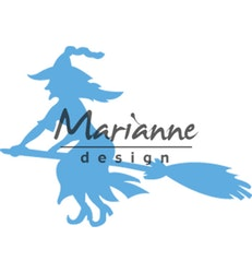 (LR0561) Marianne Design Creatable Witch on broomstick