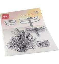 "Marianne Design Clearstamp + Die ""Dragonfly"""