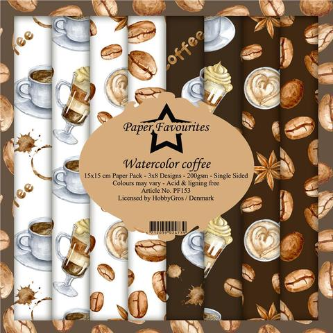 """Paper Favourites Paper Pack """"Watercolor coffee"""""""