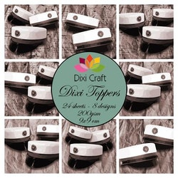 DIXI CRAFT TOPPERS 9X9CM 24 ARK