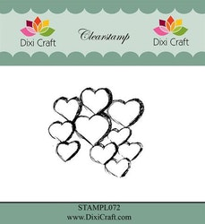 DIXI CRAFT CLEARSTAMP - Sketch Hearts