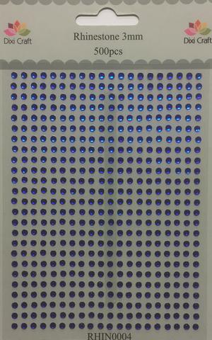 DIXI CRAFT RHINSTEN 3MM 500 stk  Mörk blå