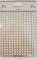 Dixi Craft Halvperler 3mm  Ljus Creme