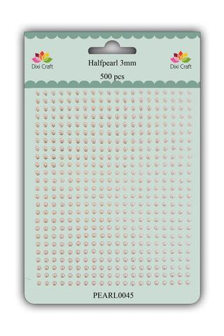 Dixi Craft Halvperler 3mm 500 stk  Creme Caramel