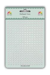 DIXI CRAFT HALVPERLER 5MM 300 stk White