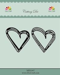 DIXI CRAFT DIES - Sketch Hearts