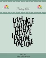 DIXI CRAFT DIES - Love background