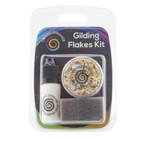 """Cosmic Shimmer Gilding Flakes Kit """"Egyptian Gold"""""""